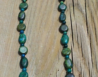Green Austrailian Jasper Necklace, Jasper Necklace, Green Necklace, Gift for Her, Gemstone Necklace