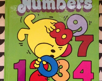 Mr. Bounce's Numbers by Roger Hargreaves 1981 Vintage children's board book