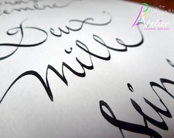Custom poster calligraphed by hand