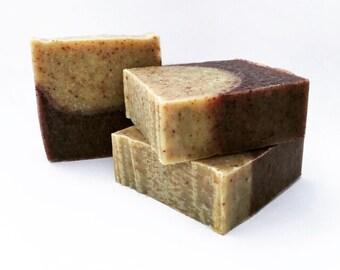 Handmade Gardener's Soap, Mechanic's Soap, Exfoliating Soap, Handmade Soap, Cold Process, Bar Soap, Orange, Lemongrass, Lavender, Vegan