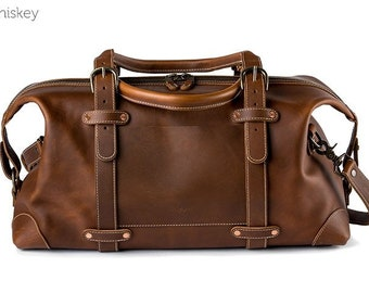 The Heritage Leather Duffel Bag - Whiskey | Leather Weekend Bag, Leather Duffel Bag