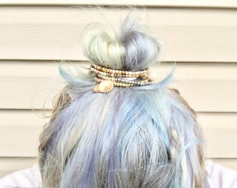 Bun bracelets bun wraps hair jewelry Earth Mother set