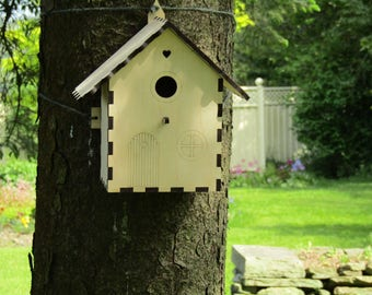 Fairy Garden Birdhouse - Build Your Own Bird Nest Box - Wildlife Craft Project Kit