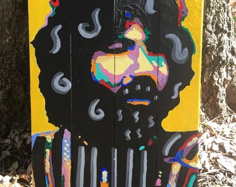 Jerry Garcia Grateful Dead Original Wood Painting