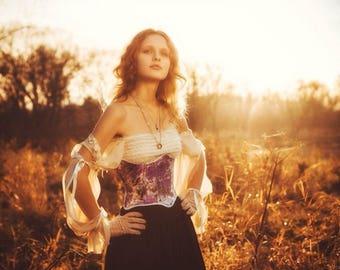 Steampunk frolar handmade  underbust corset
