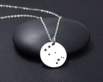Gemini Constellation Necklace Sterling Silver, Gemini Necklace, Zodiac Necklace, Zodiac Jewelry