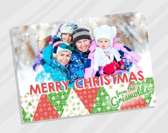 Family Christmas Card, Printable Christmas Card for Family Photo