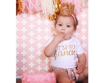 The Golden Princess First Birthday Crown, Baby Crown, First Birthday Crown, Gold Crown, Pink and Gold Crown, Crown with Headband