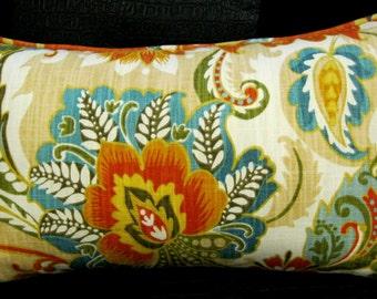 Cream Orange burt Flower pillow cover 12 X 20