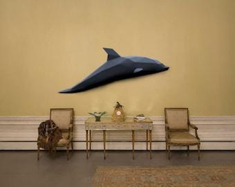 Dolphin 3D Papercraft Model - Download PDF Template - DIY Decoration
