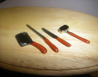 Miniature Carving Set 1:12 Scale Dollhouse Miniatures