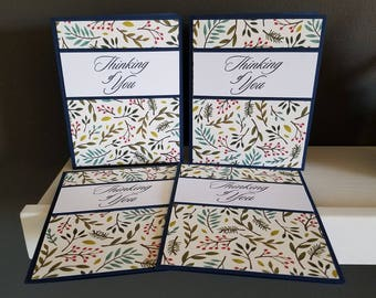 Navy/Floral Thinking of You Card Set
