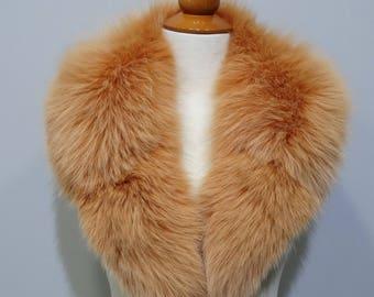 Orange Fox Fur Collar F787