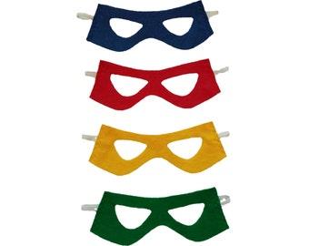 Superhero mask - kids birthday party favor - 1 felt mask - superhero costume - childrens super hero mask - super hero present or gift