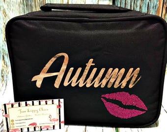 40 Tube Lipsense Lipstick Make Up Bag Personalized Customized Distributor Carrying Case Tote Makeup Organizer