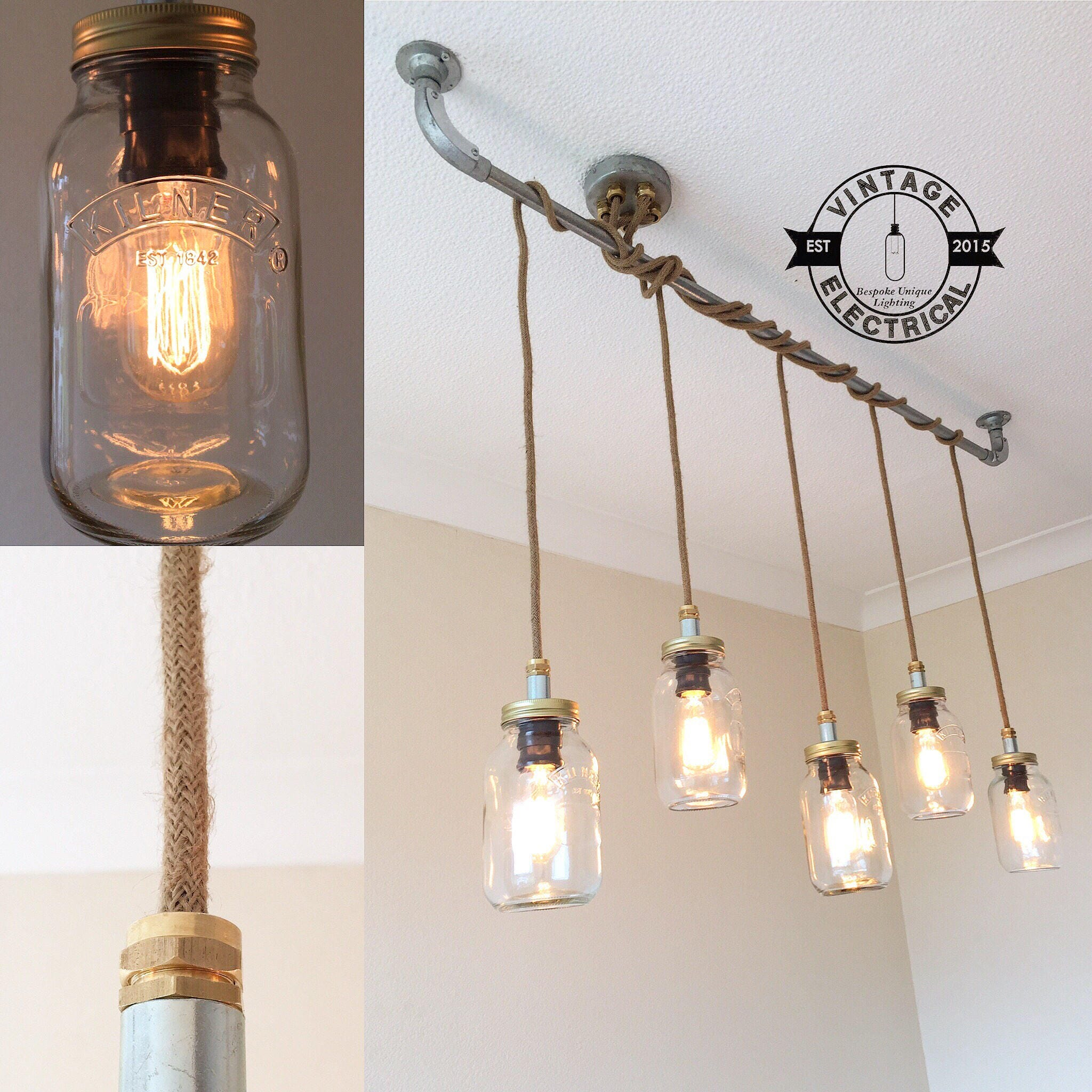 The Burnham Kilner Edition 5 X Pendant Drop Light Hanging