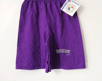 vintage colorado rockies shorts russell athletic youth size medium deadstock NWT 1992