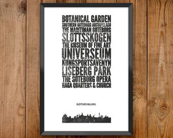 Gothenburg City Print