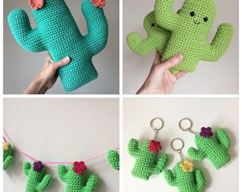 Amigurumi cactus free : Flower cactus cushion pdf crochet pattern crochet cactus