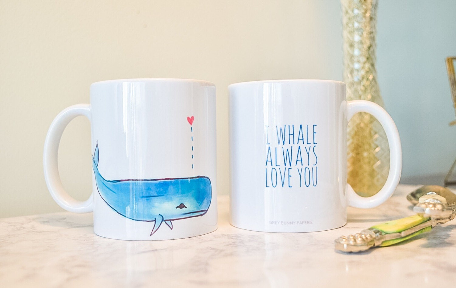 I whale always love you. Whale coffee mug. Cute Coffee Mug.