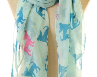 Blue Chihuahua Scarf | Chihuahua Infinity Scarf | Dog Scarf | Blue Scarf | Dog Lover Gifts | Children Scarf | Pet Lover Gifts S-76
