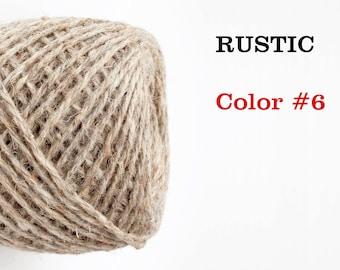 Undyed wool yarn. 100 g. Color hay #6. Natural wool yarn. Knitting wool yarn.