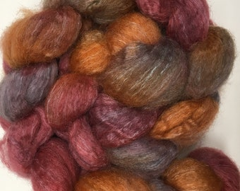Spinning Fibre Bluefaced Leicester & Silk hand dyed superwash (E01)