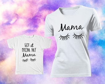 Mama i got it from my mama Shirt, Mother and Daughter Matching Gifts. Mommy and Me shirts.  Mommy and me outfits. She got it tshirt