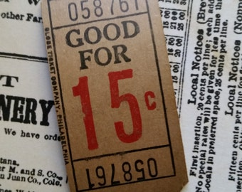 2 Dozen Rare Antique Tickets | 15 cent Carnival Tickets | Numbered | 24 Tickets