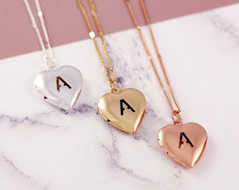Heart Locket | Initial Locket | Picture Locket | Personalized Locket | Long Locket Necklace | Lockets | Photo Locket | Minimal Necklace |