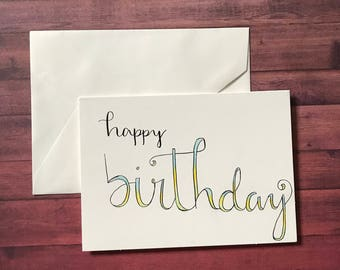 5 Pack of Birthday Cards
