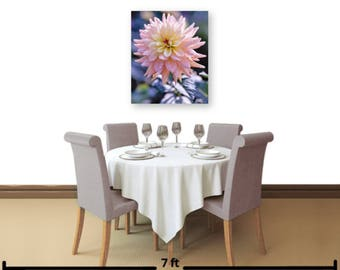 "HD Acrylic 18 x 15in or 24 x 20in ""Pink Dahlia"" Wall Decor: Comes w/Blk Wood Mount and a Cleat Hanger affixed to the back for easy hanging."