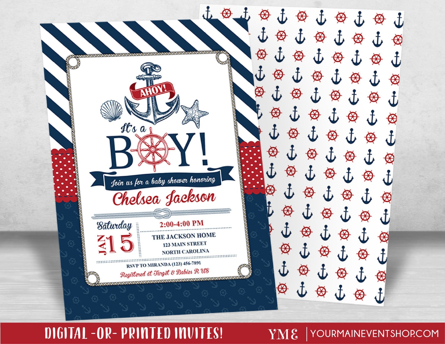 littlesizzle ns invites navy by invitations themed products nautical shower invitation baby template stripes
