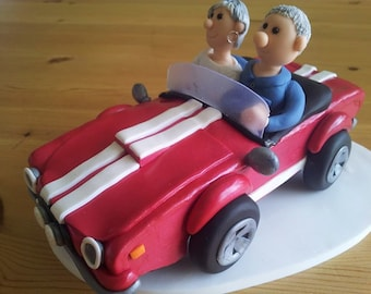 Mustang Wedding Cake Topper Convertible Polymer Clay Anniversary Cake Topper