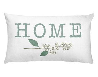 Home, welcome home, lumbar pillow, rectangular pillow, throw pillow, decorative pillow