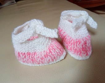 Adorable little baby booties