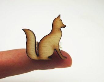 fox wooden ring