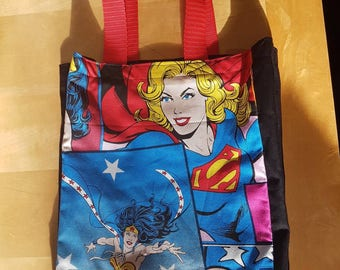 Book Bag - Batgirl, Supergirl, Wonderwoman