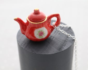 Red Teapot Necklace
