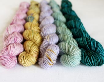 Prefect's Bath - Hatchling Mini-Skein Set - 5 x 20g - 75/25 superwash merino/ nylon sock yarn