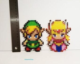 Link and Zelda Perler Set
