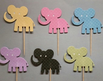 Elephant Cupcake Toppers Set of 24