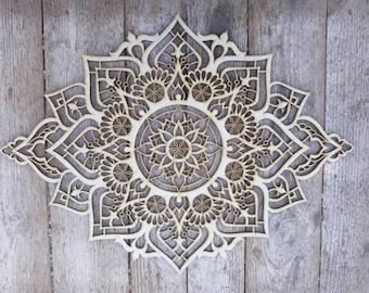 Wood Wall Art, Living Room Wall Art, Mandala, Mandala Wall Art, Bohemian