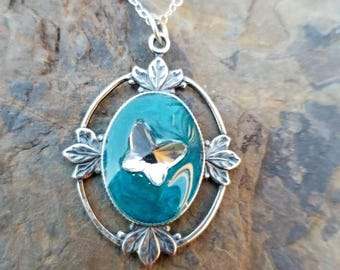 Changing Flight Necklace / One of a kind / gift idea  / butterfly