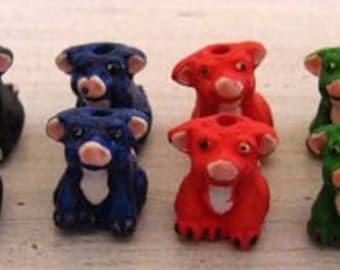 4 Tiny Pigs - mixed colors - CB610