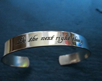 Do the Next Right Thing  ring solid sterling silver not plated