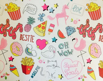 Girly Gift Wrapping Paper