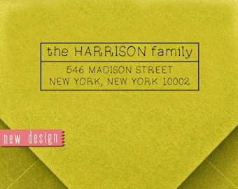 CUSTOM ADDRESS STAMP, personalized pre inked address stamp, pre inked custom address stamp, return address stamp with proof - Stamp b5-10