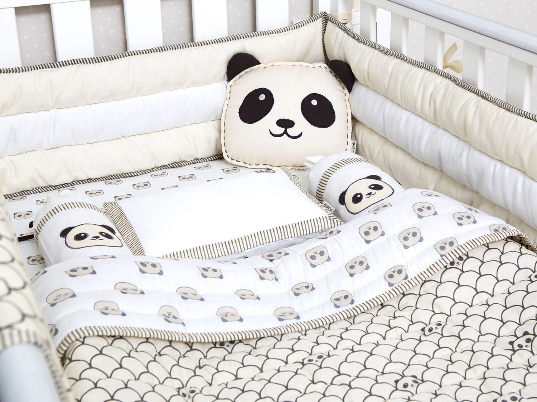 Modern Panda Organic Cot Bedding Set