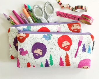 pencil pouch -- Mr. Ross in bright